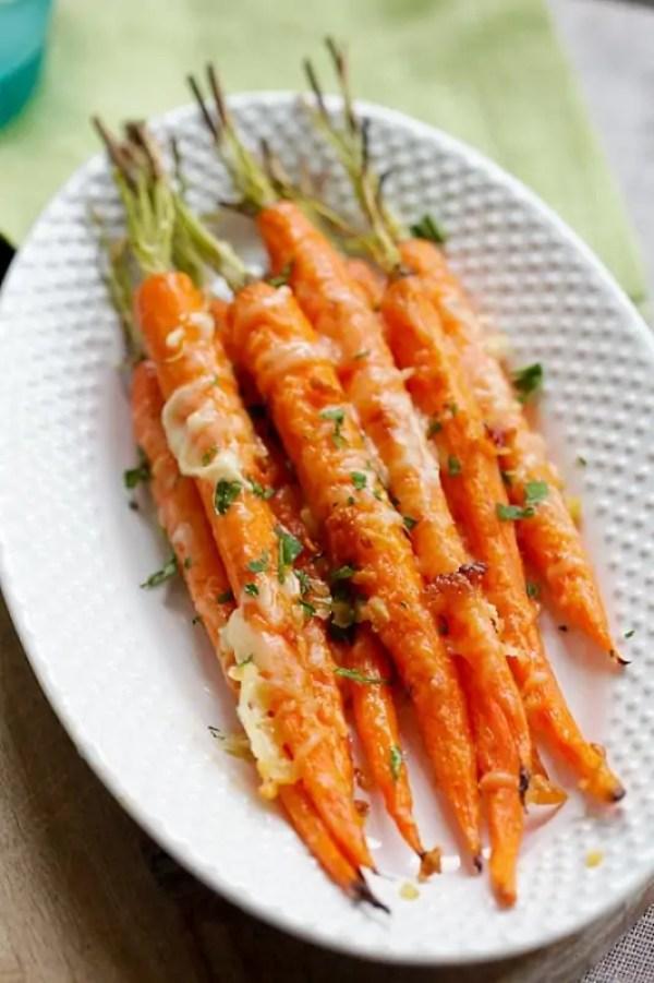 Моркови с пармезан