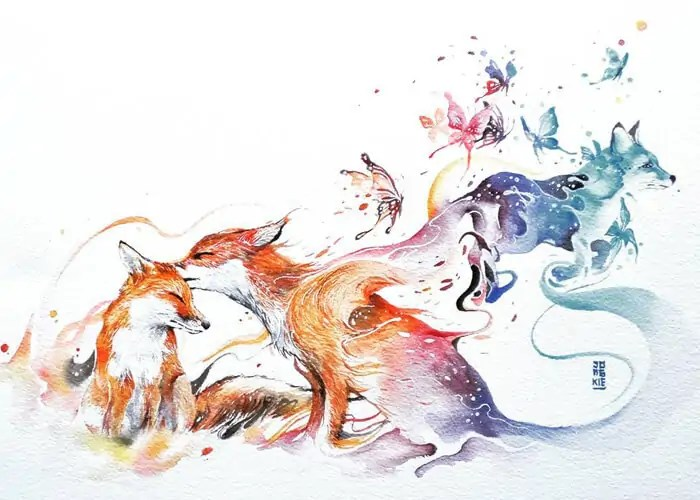 Магичните акварелни картини на Люкман Реза