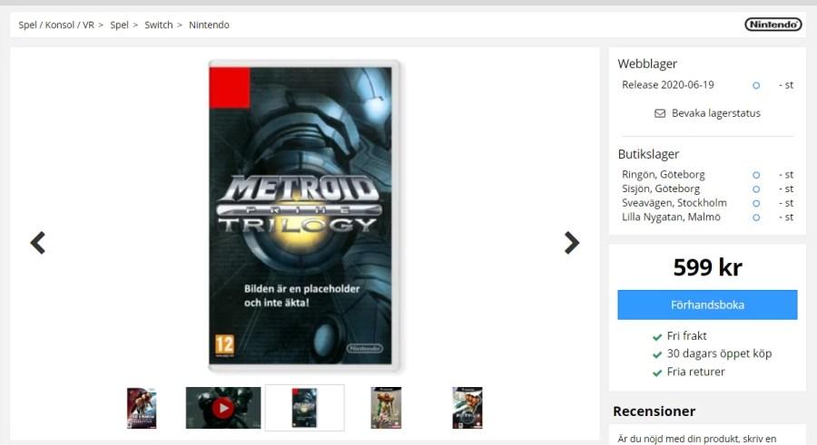 Metroid Prime Trilogy Release Rumour
