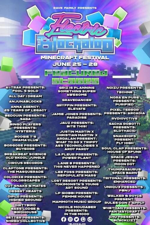 Minecraft music festival