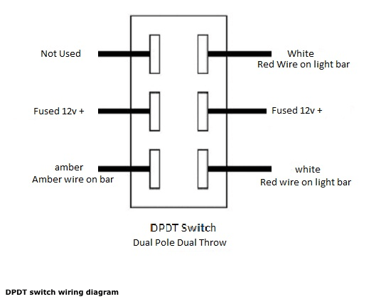 wiring a double switch diagram trailer harness bi color row led bars