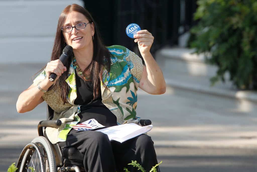 Marca Bristo speaking at a White House event in 2010 marking the 20th anniversary of the Americans with Disabilities Act. She was a longtime leader in the fight to address the needs of the disabled.CreditCreditCharles Dharapak/Associated Press