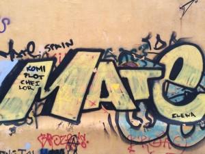 Greek graffiti! I wonder what it says...