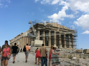 View of the Parthenon from the Propylaia.