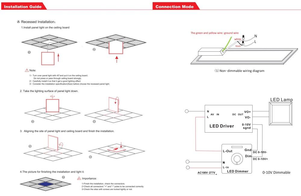 medium resolution of 2x2 led flat panel light fixture dimmable drop ceiling lights 40k 50kpanel light project