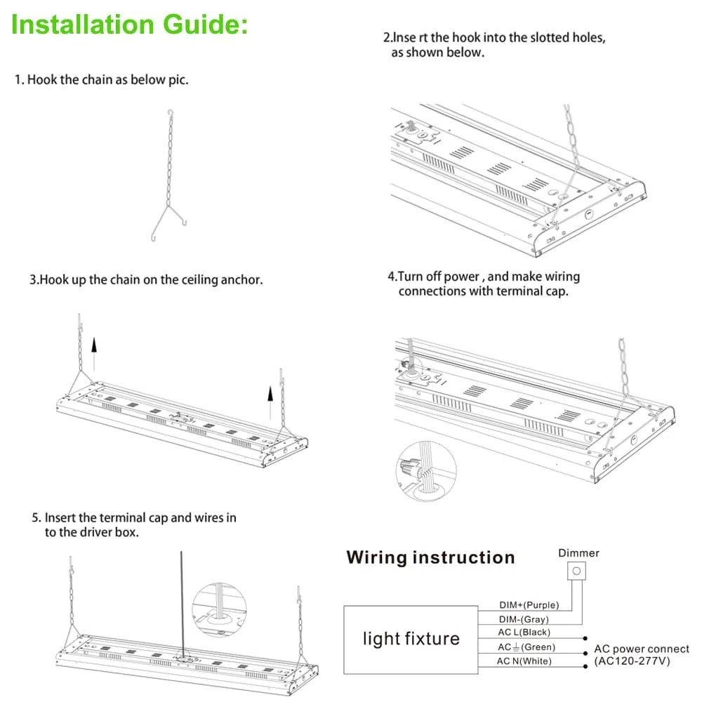 medium resolution of high bay led shop light fixture