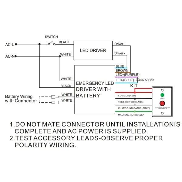 emergency led battery pack 15w 120v 277v emergency backup lighting for led ufo high bay troffer flat panel light fixtures