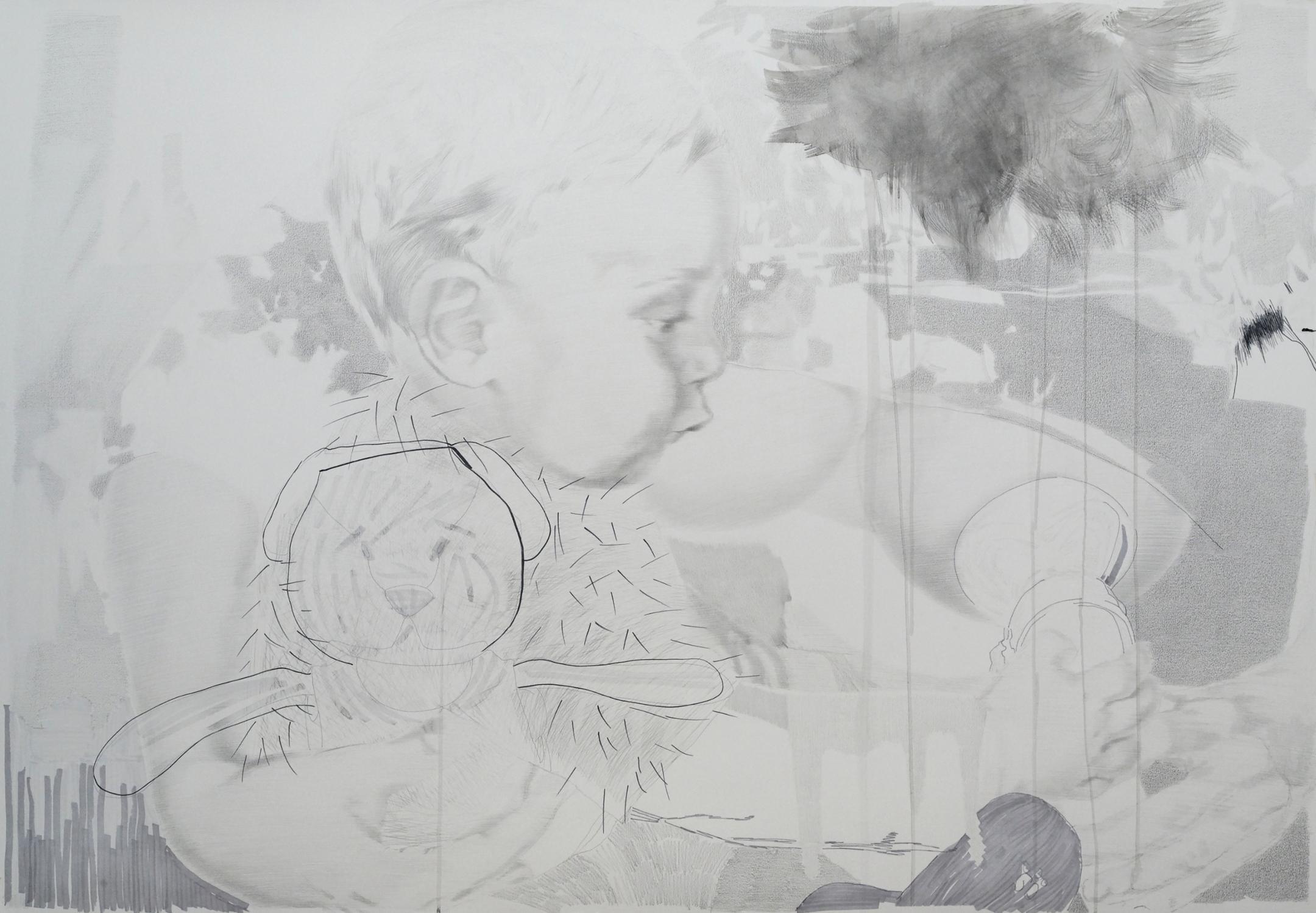 Mutter Sozialistischer Realismus Zeichnung