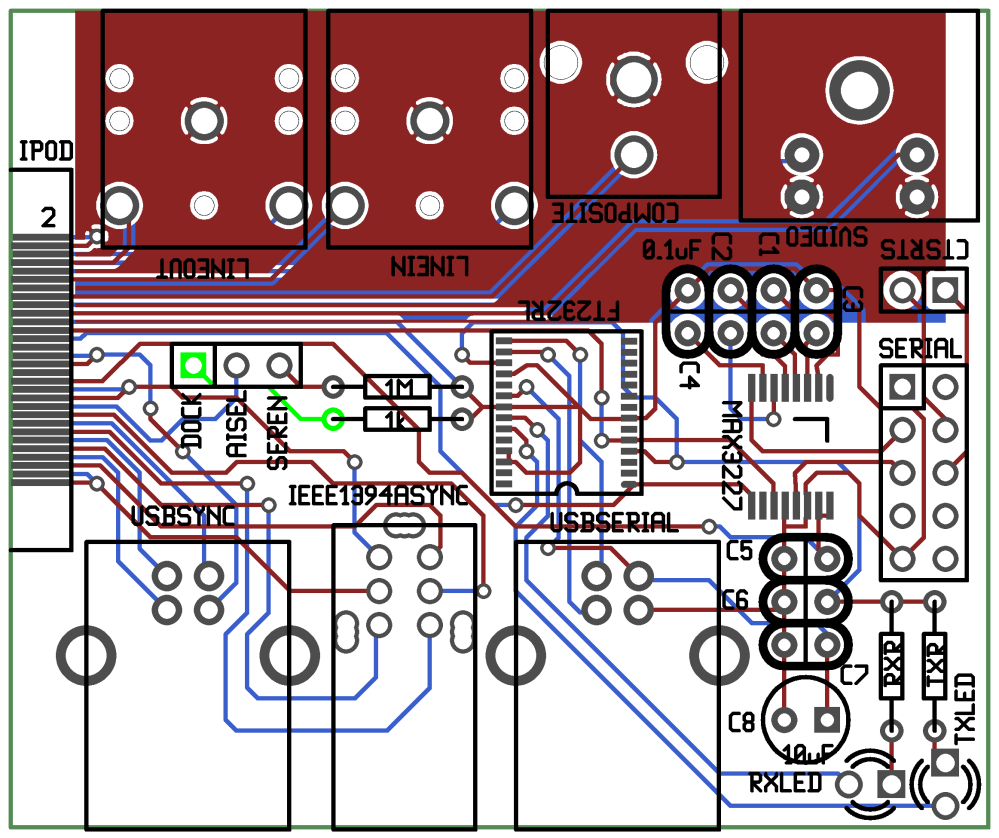 medium resolution of rendered image of the ipod ultradock pcb layout gerber files
