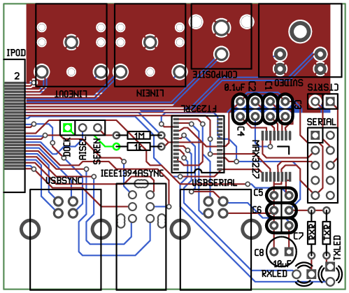 small resolution of rendered image of the ipod ultradock pcb layout gerber files