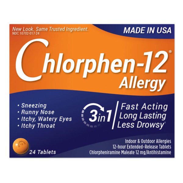 Chlorphen-12 12mg Extended-Release Tablets 24 Count ...