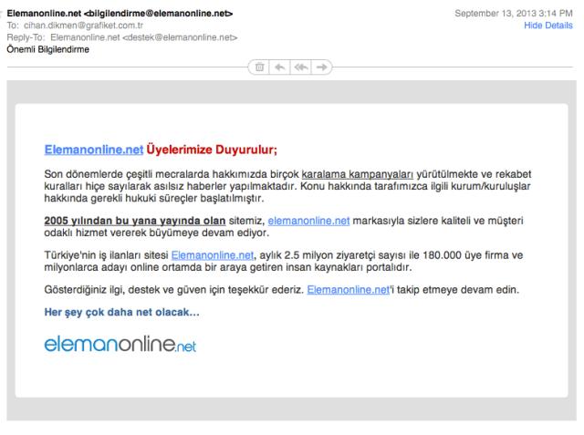 Elemanonline.net Maili