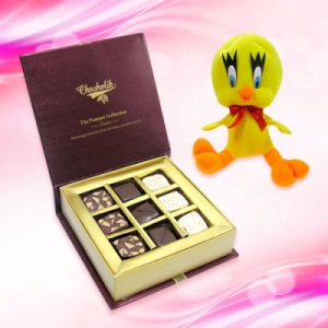 Ravishing chocolate box with tweety