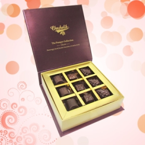 9 Pc. Dark Chocolate Nutty Box