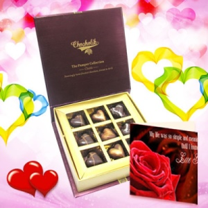 Heart Special Chocolate Collection With Love Card