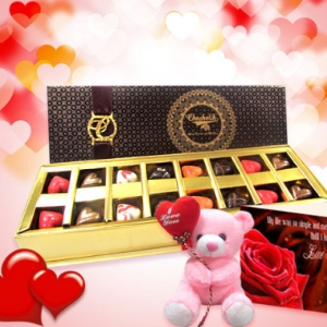 Dainty Love Chocolates and Teddy