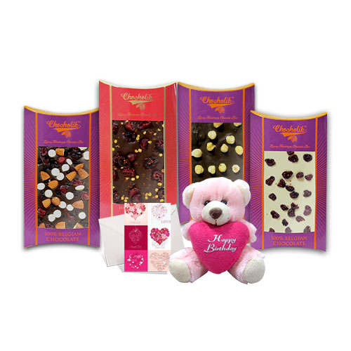 Flavourful Chocolate Bars with a Cute Teddy