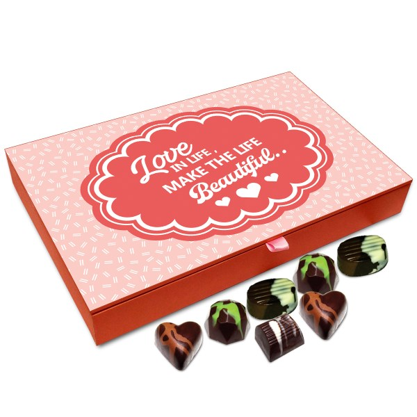 Chocholik Gift Box Love In Life Makes Life Beautiful Chocolate Box