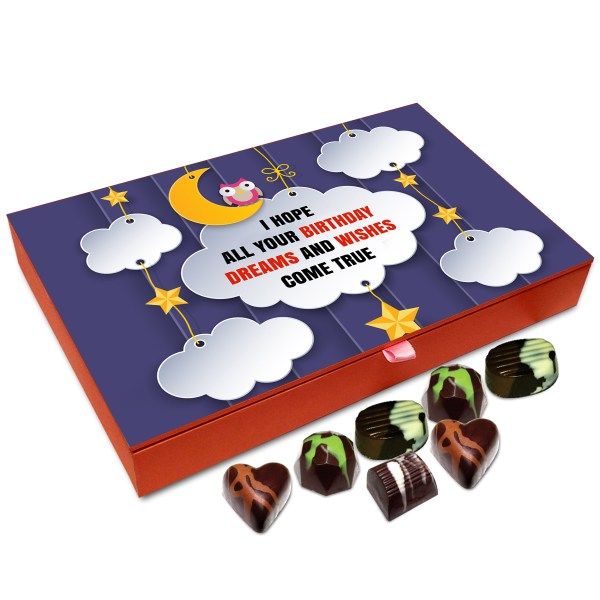 Chocholik Gift Box I Hope All Your Birthday Wishes Come True Chocolate 12pc