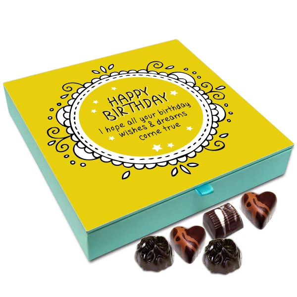 Chocholik Gift Box I Hope All Your Birthday Wishes Come True Chocolate 9pc
