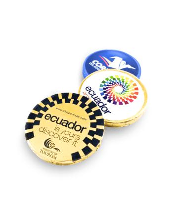 medallas de chocolate, artículos promocionales