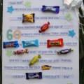 Candy bar card for a friend s 60th birthday