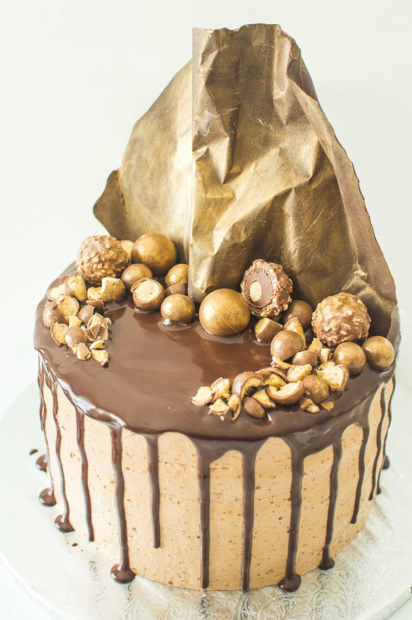 Hazelnut Praline Chocolate Cake Recipe