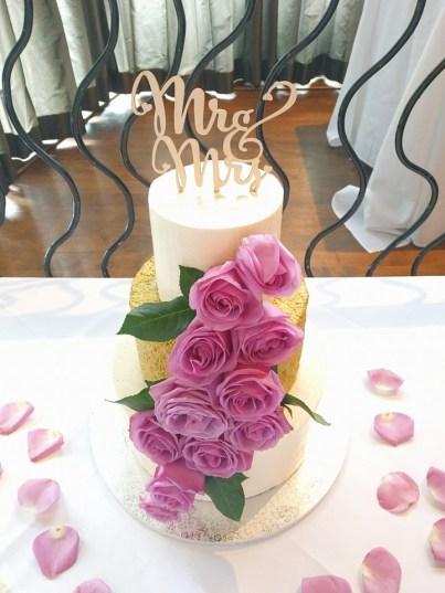 3 tiered wedding cake | earl grey | venue: brick&mortar