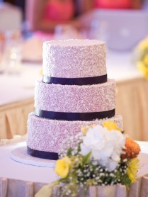 3 tiered wedding cake | Berry Coconut | Venue: Eastern Chinese Restaurant