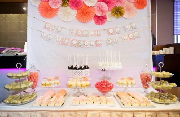 wedding dessert table for 100
