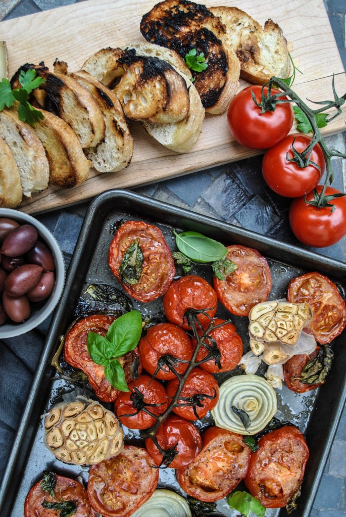 Roasted Tomatoes, Garlic and Herbs