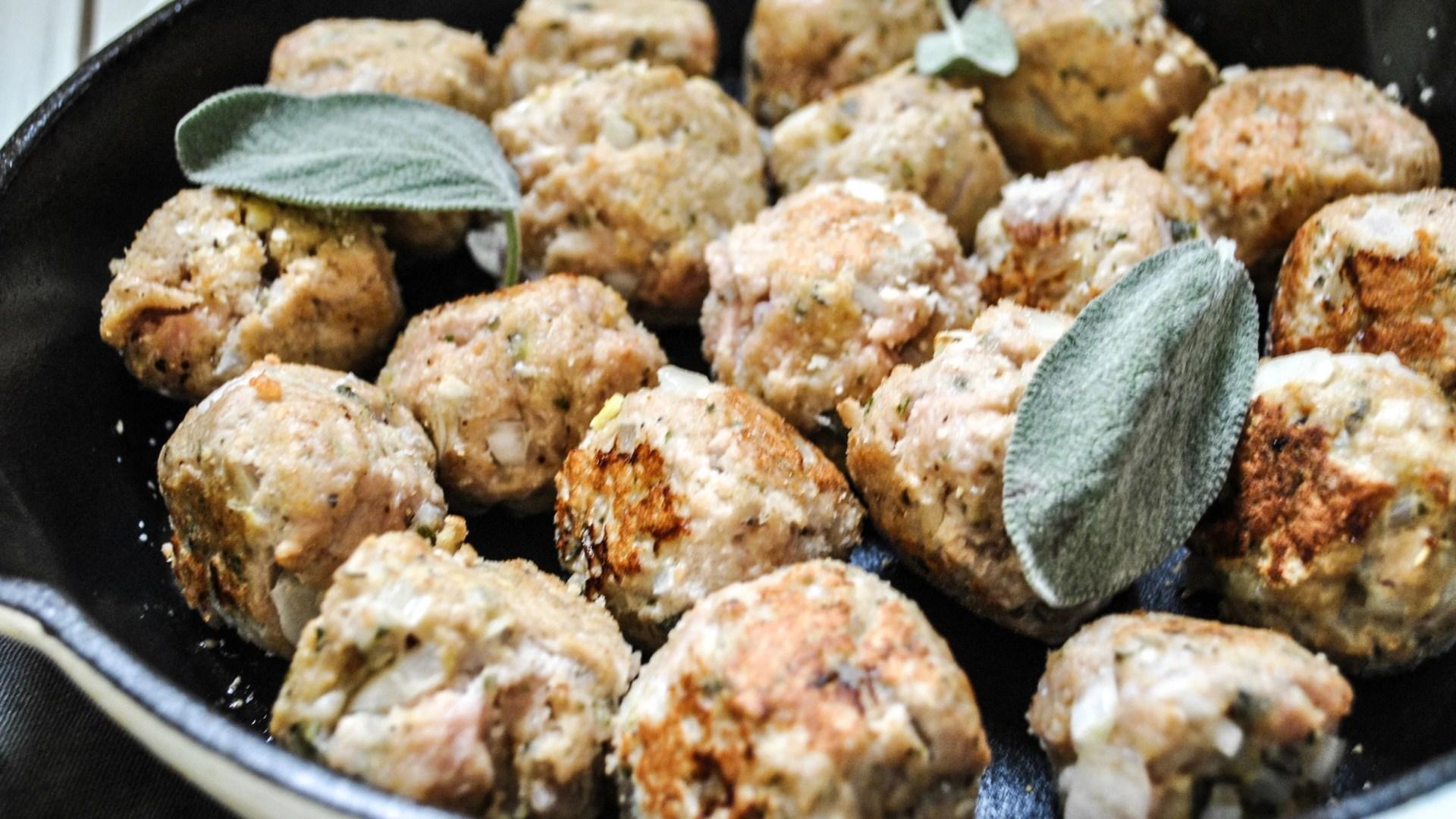 Turkey and Sage Meatballs