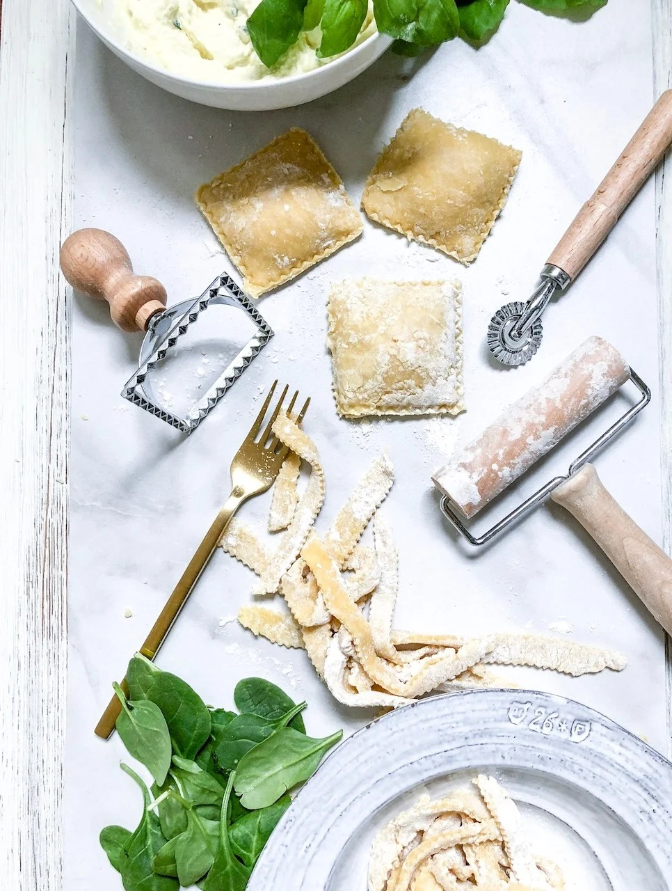 Lifestyle Blogger Chocolate & Lace shares her recipe for handmade Spinach + Ricotta Ravioli