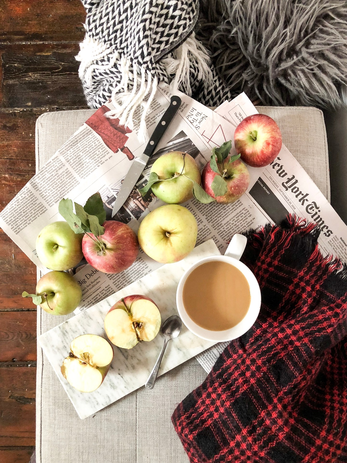 Lifestyle Blogger Chocolate and Lace shares her recipe for Warm Apple Crisp