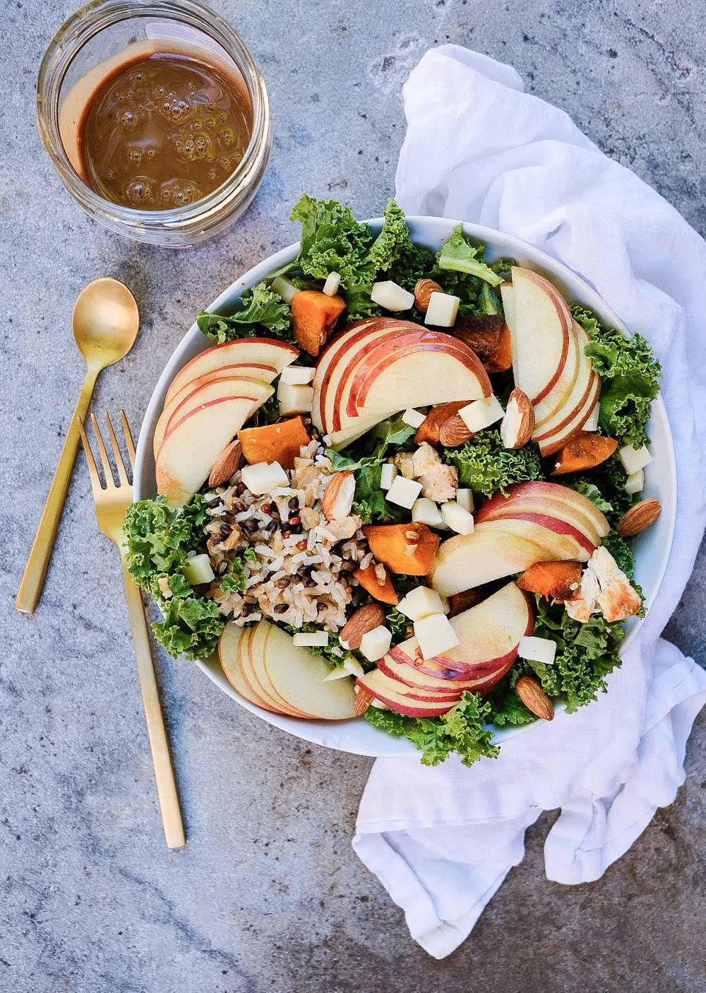 Lifestyle Blogger Chocolate and Lace shares her recipe for Copycat Sweetgreen Harvest Bowl.