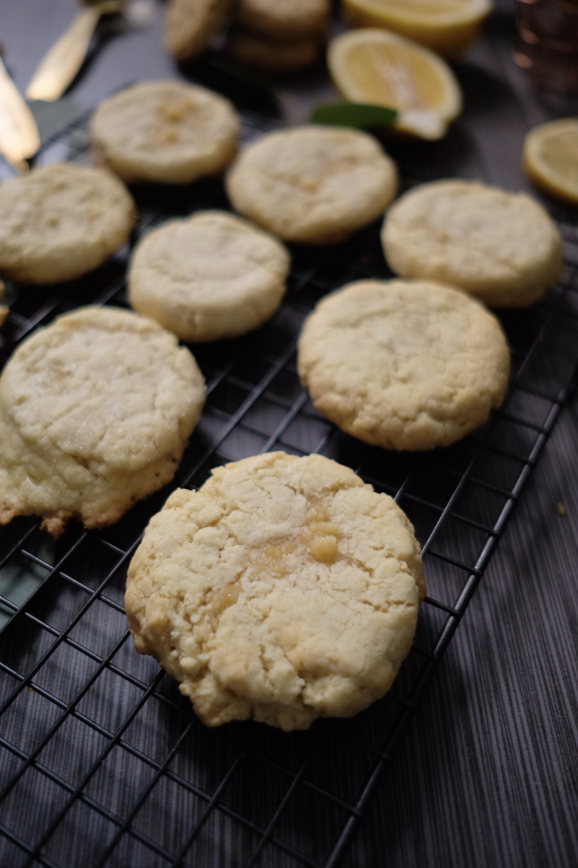 Lifestyle Blogger Chocolate & Lace shares her recipe for Chewy Lemon Sugar Cookies