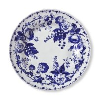 French Blue Bouquet Salad Plates, Set of 4