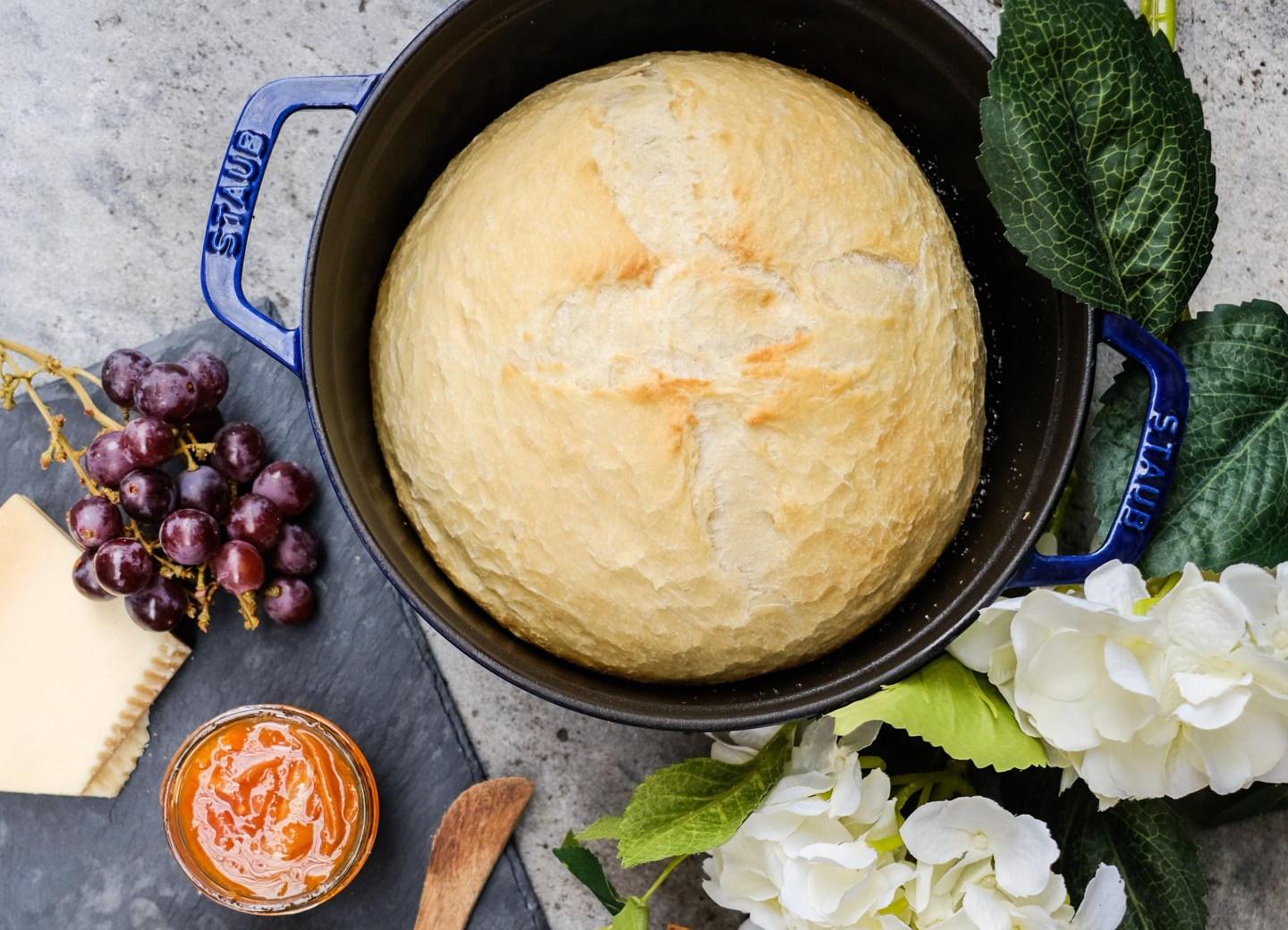 Dutch Oven Bread with Whipped Honey Butter