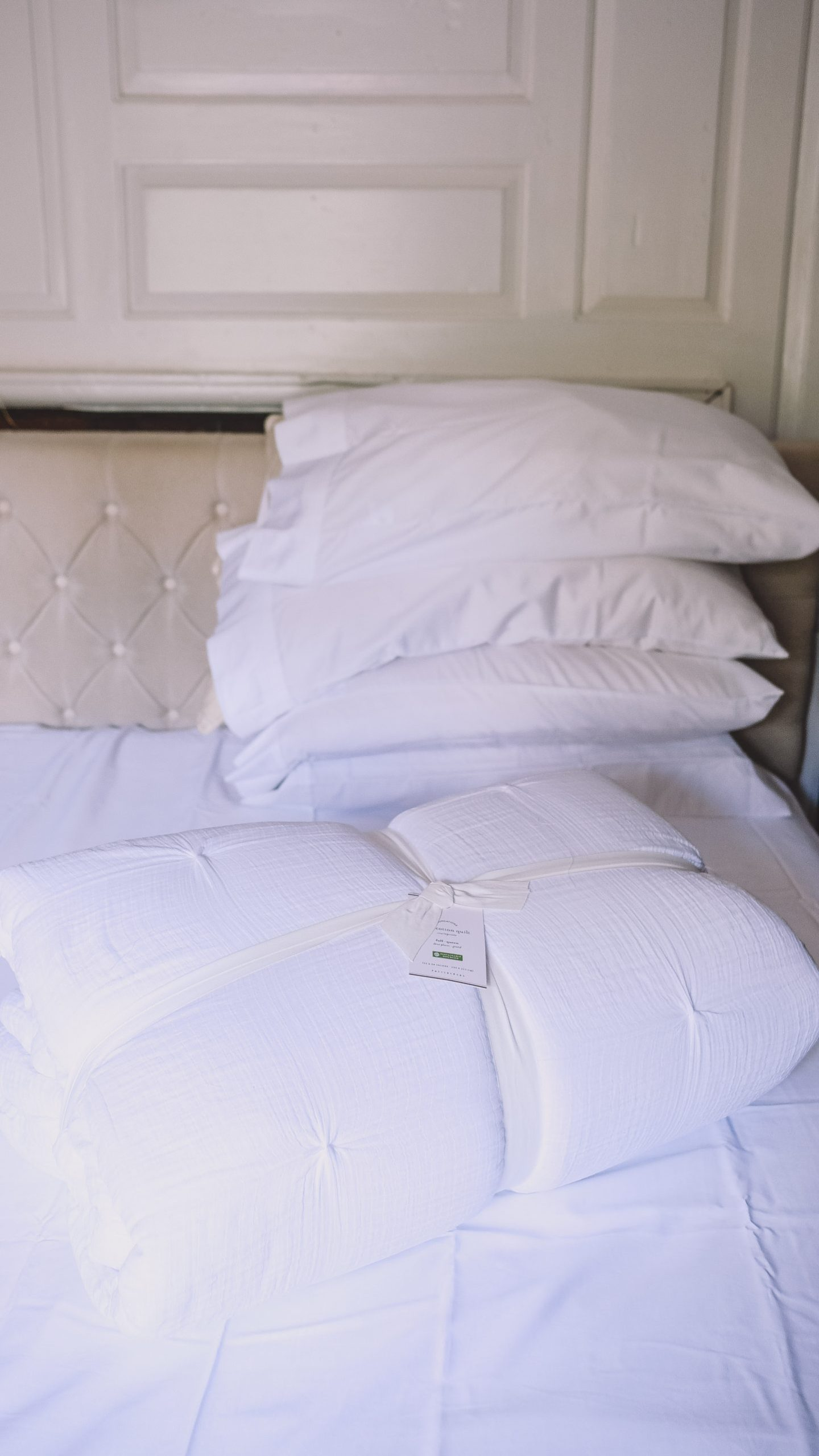Lifestyle Blogger Chocolate & Lace shares her all white bedding update.