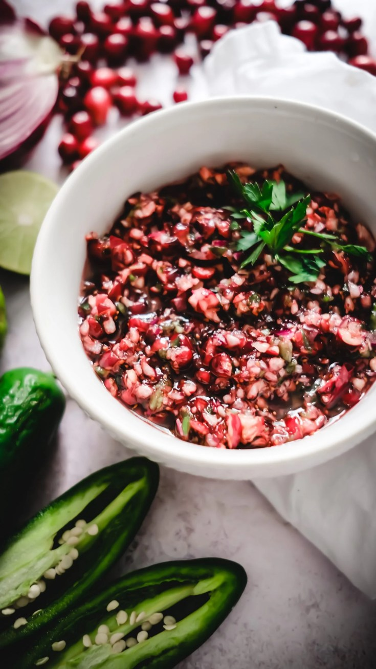 Lifestyle Blogger Chocolate and Lace shares her recipe for Sweet and Spicy Cranberry Jalepeno Salsa