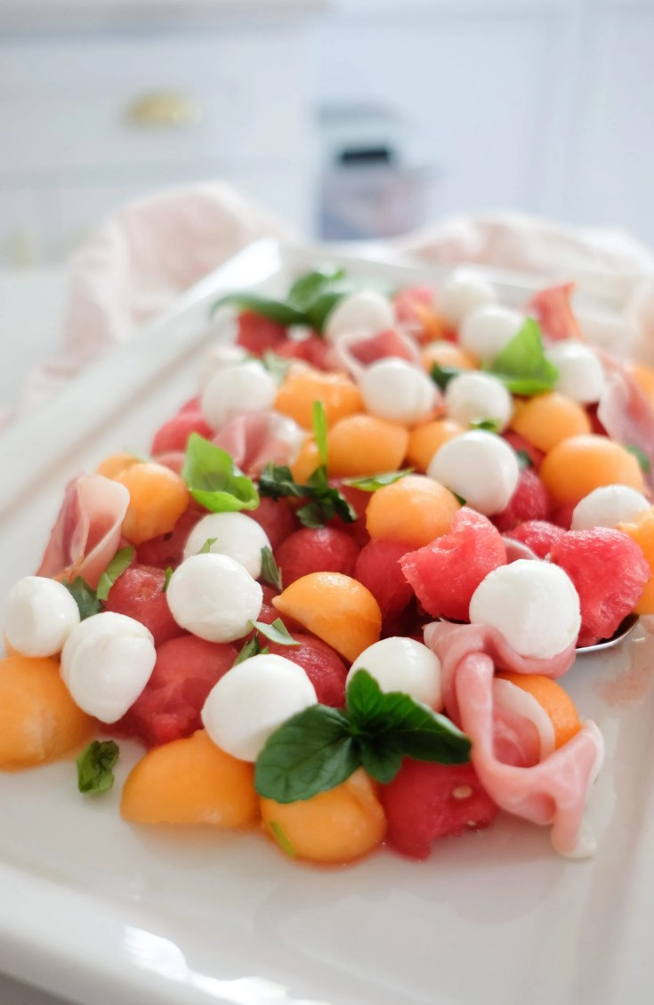 Food Blogger Chocolate and Lace shares her recipe for Melon and Prosciutto Salad