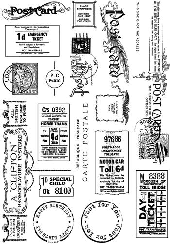Crafty Individuals UM Tickets Amp Postcard Stamps