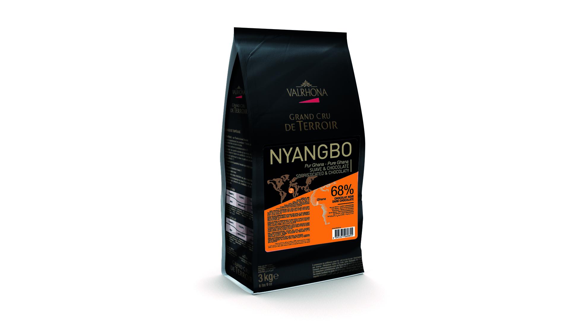 Valrhona Nyangbo Dark 68% Dark Chocolate Feves  #6085