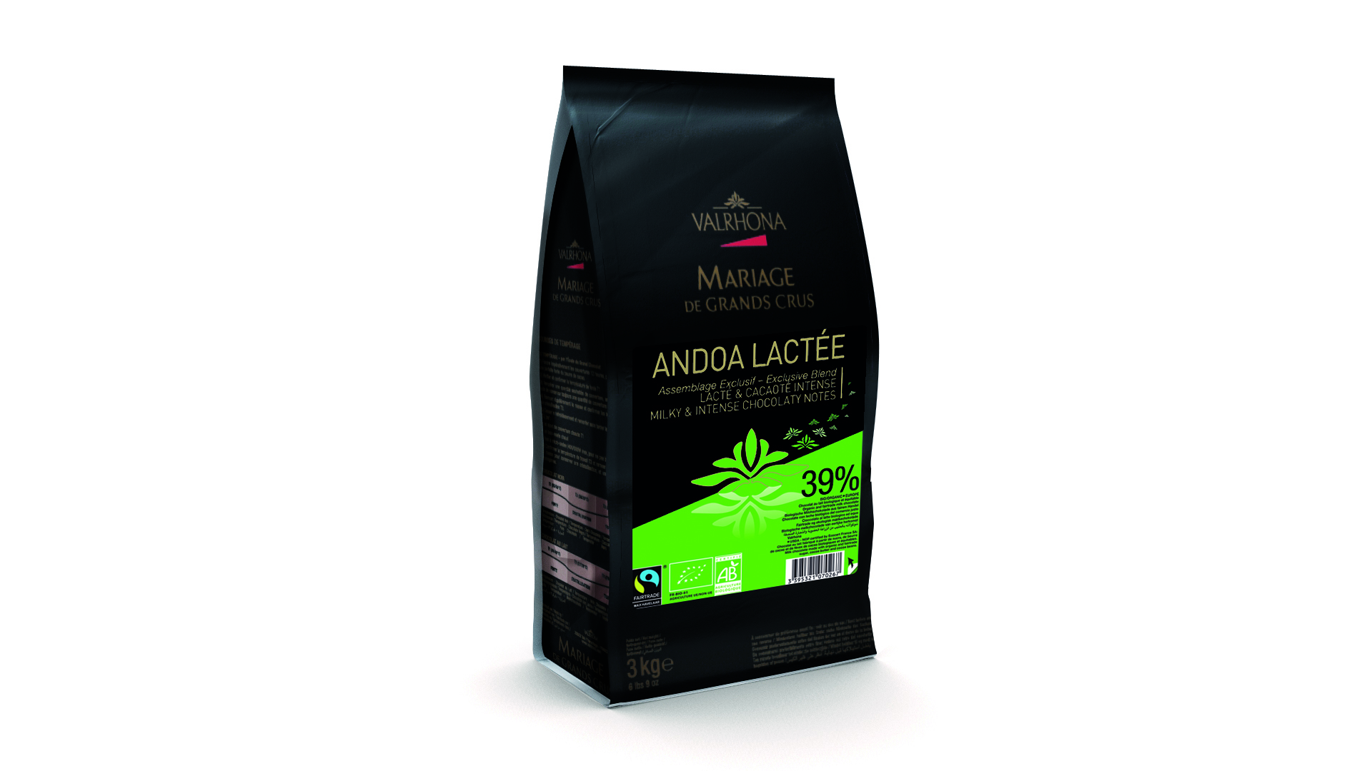 Valrhona Andoa Lactee 39% Milk Chocolate Feves   #12514