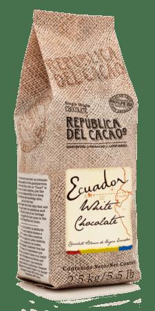 Repulica del Cacao White Couverture #201101 5.5 lbs