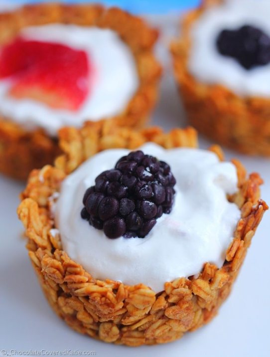 Breakfast Granola Cups - @choccoveredkt
