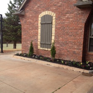FINISHED FRENCH DRAIN WITH BEDS