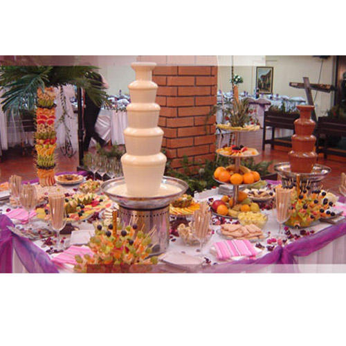 5 tiers Chocolate Fountain Machine for Wedding