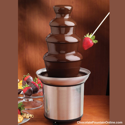 CF18A Cheap 4 tiers Chocolate fountain
