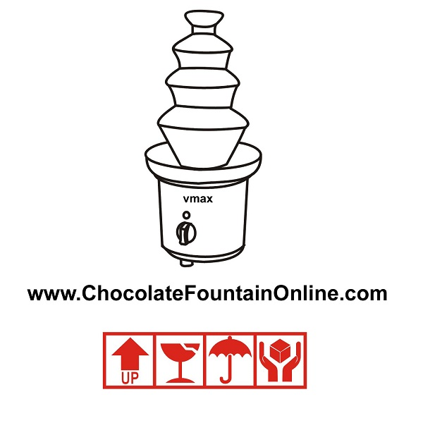 220V 4 tiers chocolate fountain machine